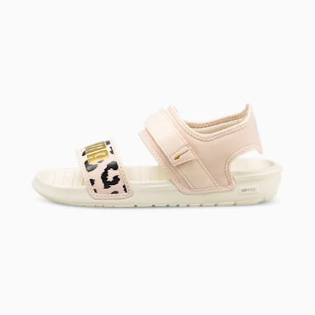 Softride Leo Women's Sandals, Marshmallow-Cloud Pink-Gold, small-IND