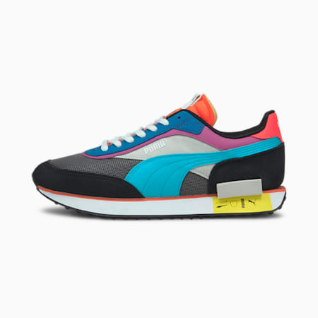 Future Rider Icons Trainers, CASTLEROCK-Puma Black, small