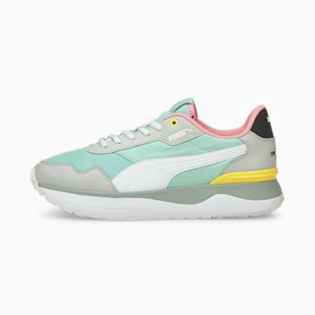 R78 Voyage Women's Trainers, Eggshell Blue-White-Gray, small-GBR