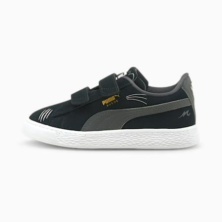 Zapatos deportivos Suede Lil PUMA para niños pequeños, Puma Black-Asphalt, pequeño