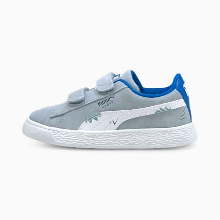 Zapatos deportivos Suede Lil PUMA para niños pequeños, Blue Fog-Puma White, pequeño