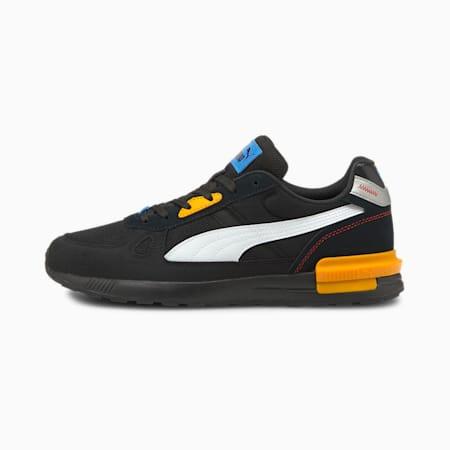 Zapatos deportivos Graviton Pro, Puma Black-Puma White-Saffron-Future Blue-High Risk Red, pequeño