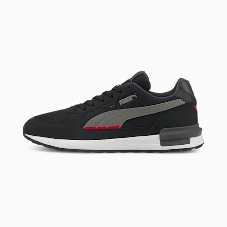 Zapatos deportivos Graviton, Black-Stl Gray-Ebony-Saffron, pequeño