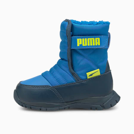 Nieve Winter Babies' Boots, Future Blue-Nrgy Yellow, small