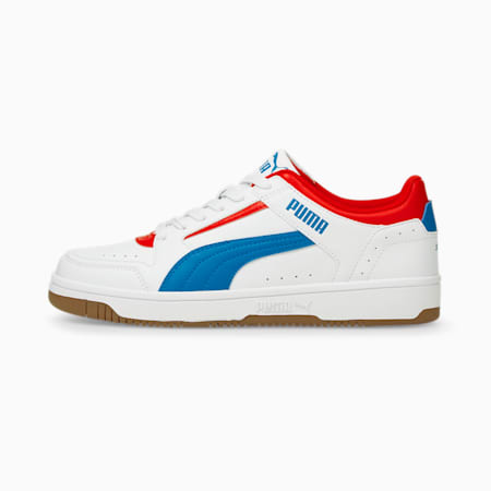 Rebound Joy Low Unisex Sneakers, Puma White-Future Blue-High Risk Red-Gum, small-IND
