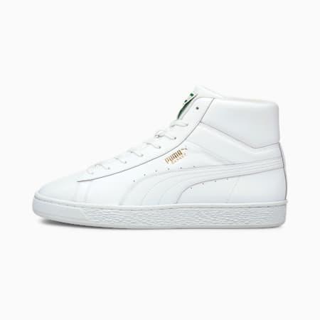 Zapatos deportivos BasketXXI de caña media para hombre, Puma White-Puma White, pequeño