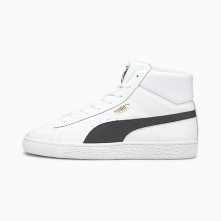 Zapatos deportivos BasketXXI de caña media para hombre, Puma White-Puma Black, pequeño