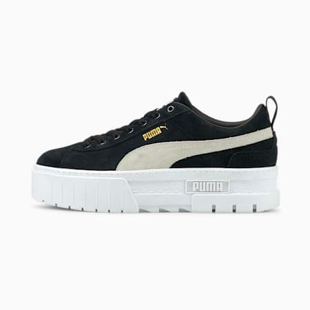 Zapatos deportivos Mayze para mujer, Puma Black-Puma White, pequeño
