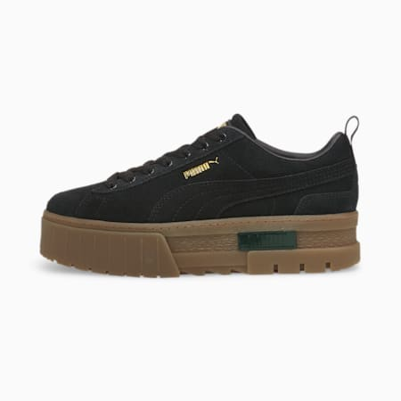 Mayze Damen Sneaker, Puma Black-Puma Team Gold, small