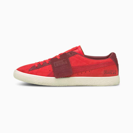 PUMA x MICHAEL LAU Suede VTG Trainers, Poppy Red-Red Plum, small-GBR