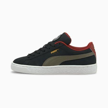 Zapatos deportivos Suede Time4Change JR, Puma Black-Grape Leaf, pequeño