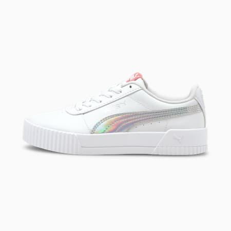 Zapatos deportivos Carina Rainbow JR, Puma White-Puma Silver, pequeño