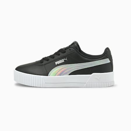 Zapatos deportivos Carina Rainbow JR, Puma Black-Puma Silver, pequeño