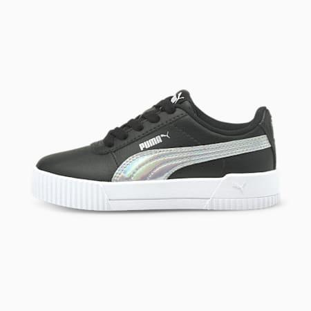 Zapatos deportivos Carina Rainbow para niño pequeño, Puma Black-Puma Silver, pequeño