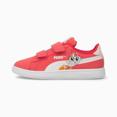 Smash v2 Lil PUMA V Kids' Trainers, Paradise Pink-Puma White, small-GBR