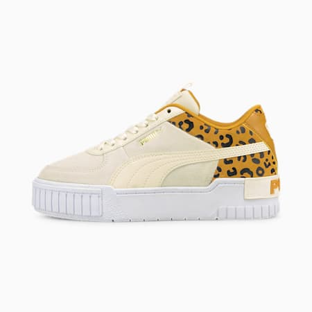 Cali Sport Roar Youth Trainers, Ivory Glow-Mineral Yellow, small