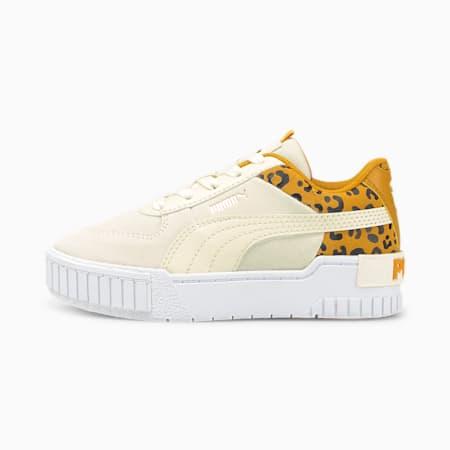 Zapatos deportivos Cali Sport Roar para niño pequeño, Ivory Glow-Mineral Yellow, pequeño