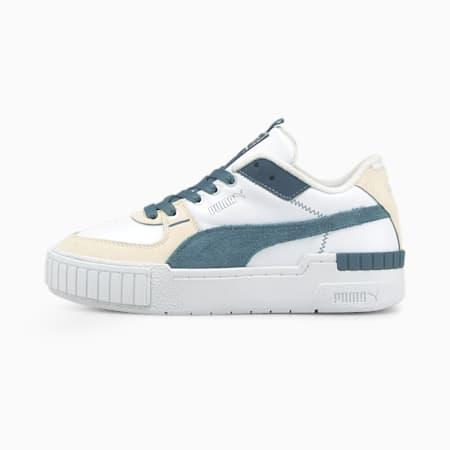 Zapatos deportivos Cali Sport Frosted Hike para mujer, Puma White-China Blue-Vaporous Gray, pequeño