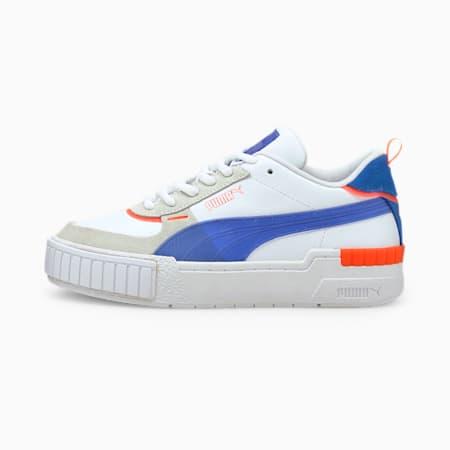 Zapatos deportivos Cali Sport Pop para mujer, Puma White-Bluemazing-Lava Blast, pequeño
