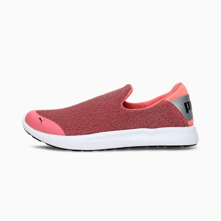 Comfort IDP Women's Slip-on Shoes, Sun Kissed Coral-Puma Silver, small-IND
