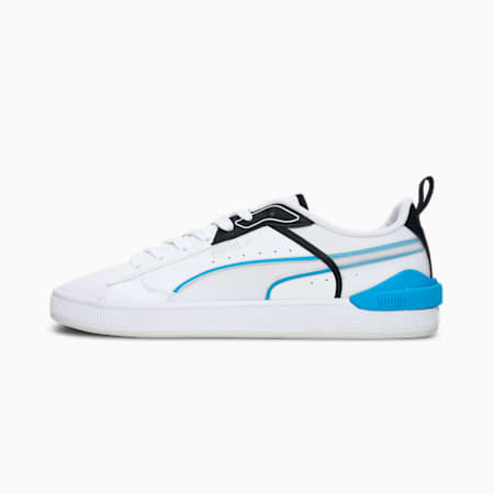 Suede Colour Block Tech Unisex Sneakers, Puma White-Nrgy Blue, small-IND
