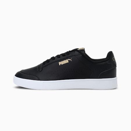 Shuffle One8 Shoes, Puma Black-Puma White-Gold, small-IND