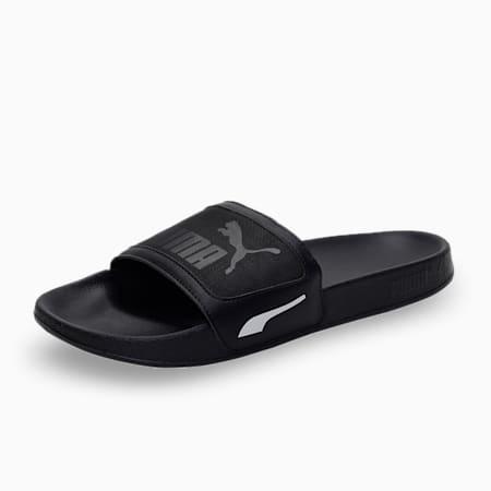 one8 Leadcat FTR Unisex Slides, Puma Black-Gray Violet, small-IND