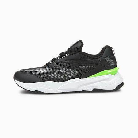 PUMA x RS-Fast Tech Unisex Sneakers, Puma Black-Puma White-Green Glare, small-IND