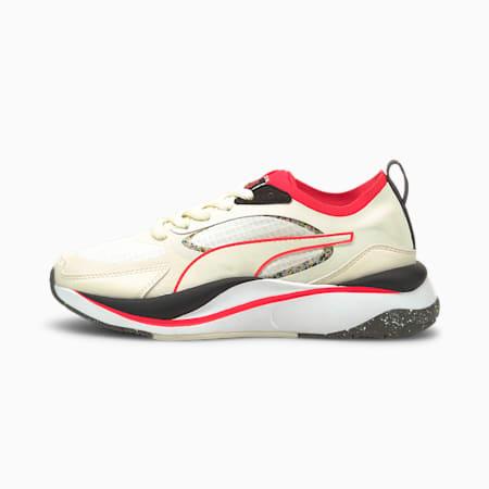 Zapatos deportivos PUMA x FIRST MILE RS-Curve para mujer, Puma White-Ivory Glow, pequeño