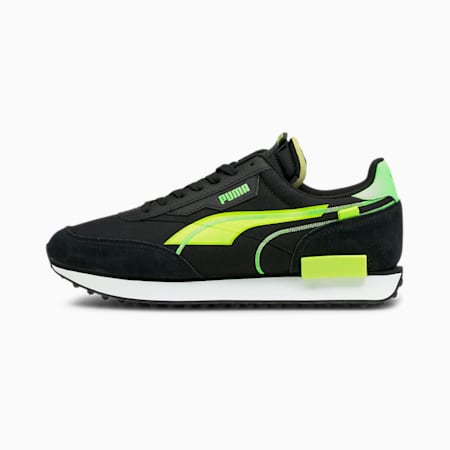 Future Rider Twofold SD Sneaker, Puma Black-Yellow Alert, small