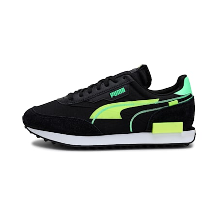 Future Rider Twofold Unisex Sneakers, Puma Black-Yellow Alert, small-IND