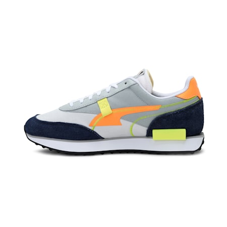 Future Rider Twofold Unisex Sneakers, High Rise-Fluo Orange, small-IND
