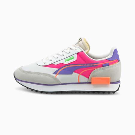 Future Rider Twofold Unisex Sneakers, Puma White-Luminous Purple, small-IND