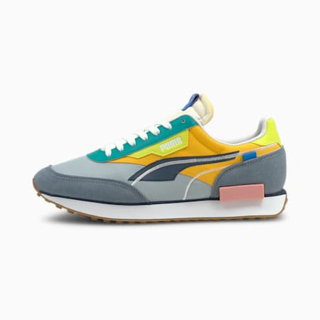 Future Rider Twofold Unisex Sneakers, China Blue-Blue Fog-Saffron, small-IND