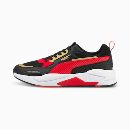 X-Ray² Square Celestial Kids' Trainers, Black-High Risk Red-TeamGold, small-SEA