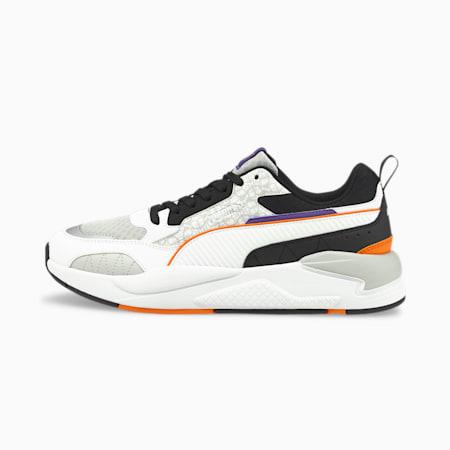 X-Ray² Square Scary Unisex Shoes, Puma Black-Puma White-Gray Violet-Vibrant Orange, small-IND