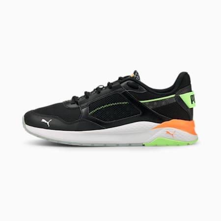 Anzarun Grid Cyber Unisex Sneakers, Puma Black-Puma Silver-Green Glare, small-IND