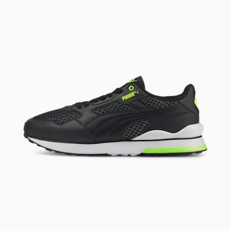 R78 FUTR Cyber Unisex Sneakers, Puma Black-Puma Black-Green Glare, small-IND
