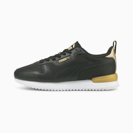PUMA R78 Metallic Pop Women's Sneakers, Puma Black-Puma Black-Puma Team Gold, small-IND