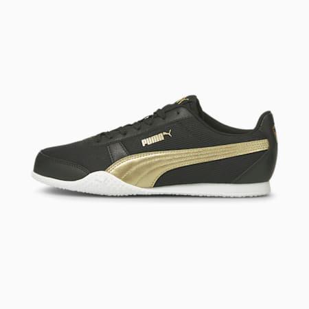 Bella Metallic Women's Sneakers, Puma Black-Puma Team Gold, small-IND
