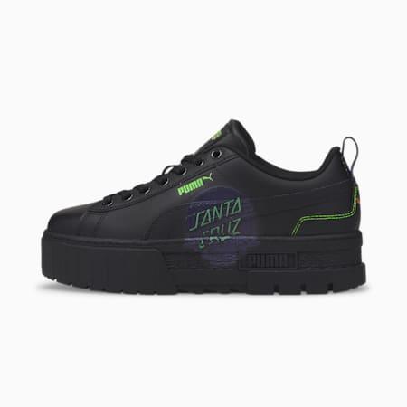 Zapatos deportivos Mayze PUMA x SANTA CRUZ para mujer, Puma Black-Puma Black, pequeño
