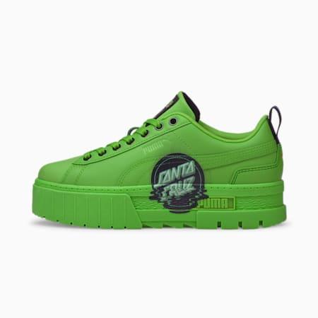 PUMA x SANTA CRUZ Mayze Women's Sneakers, Green Flash-Green Flash, small-IND