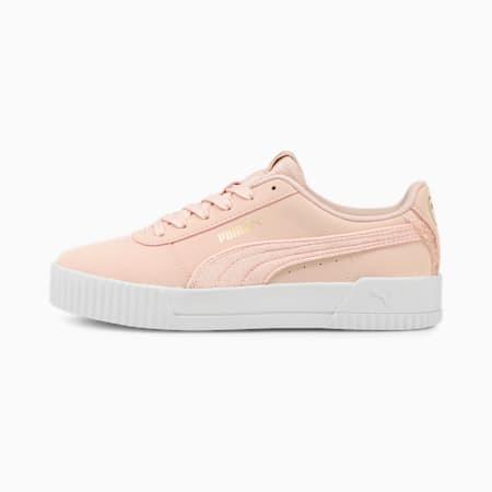 Carina Ruffle Women's Sneakers, Lotus-Lotus, small-IND
