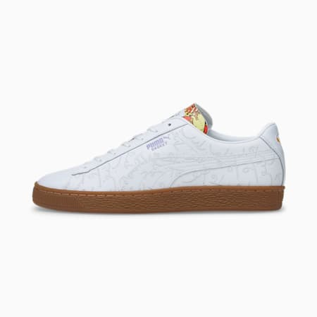 Basket Romero Britto Unisex Sneakers, Puma White-Gum, small-IND