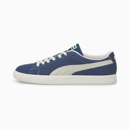 PUMA x BUTTER GOODS Basket Vintage Sneaker, Dark Denim-Whisper White, small
