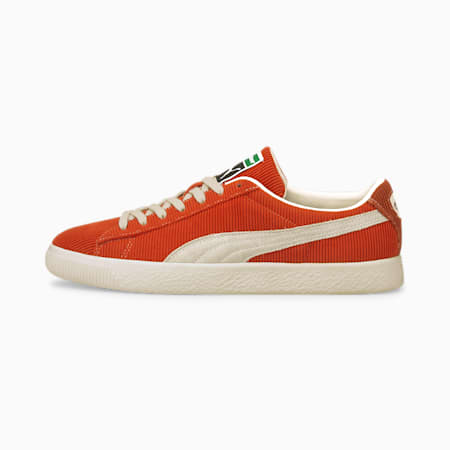 PUMA x BUTTER GOODS Basket Vintage Trainers, Rooibos Tea-Whisper White, small