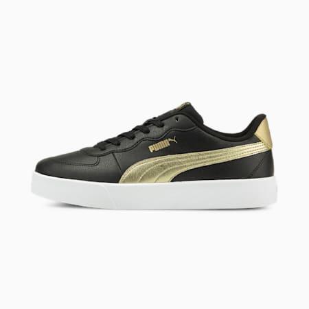 PUMA Skye Clean Metallic Women's Shoes, Puma Black-Puma Team Gold, small-IND