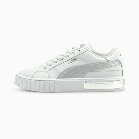 Zapatos deportivos Cali Star Metal para mujer, Nimbus Cloud-Puma White-Puma Silver, pequeño