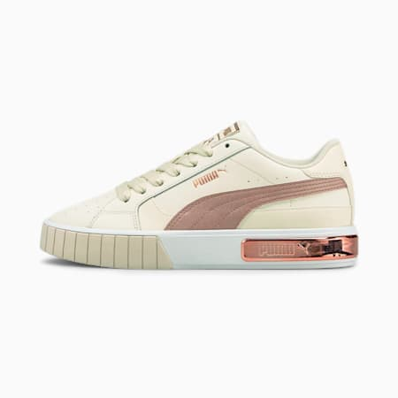 Cali Star Metal Women's Sneakers, Ivory Glow-Rose Gold-Puma White, small-IND