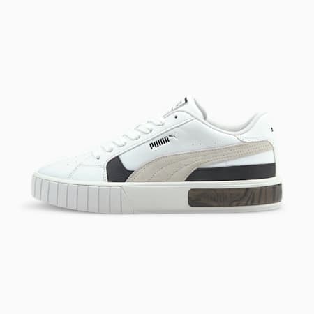 Zapatos deportivos Cali Star WS para mujer, Puma White-Puma Black-Nimbus Cloud, pequeño